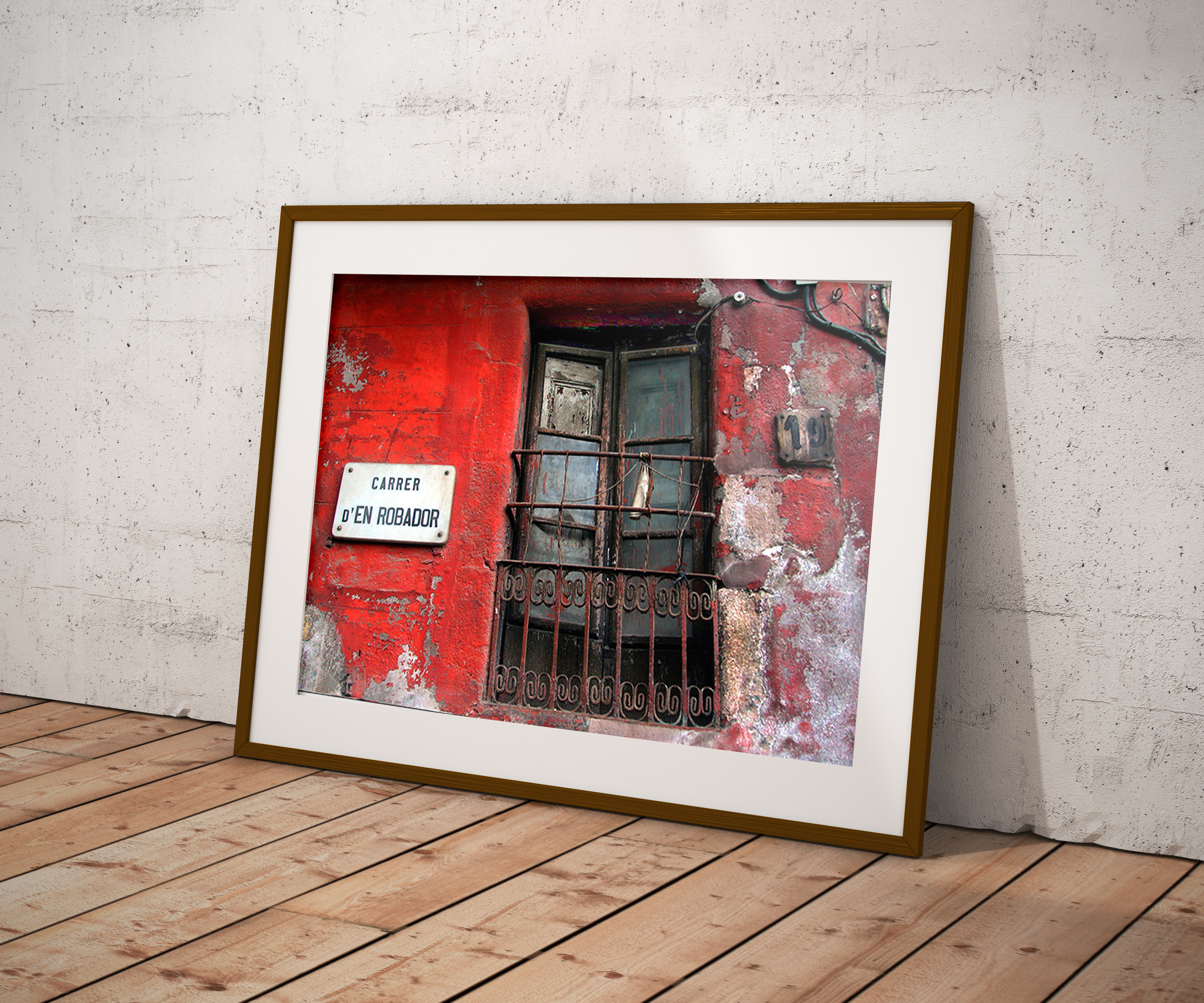 Imanart Barcelona fotografía decorativa Carrer Robadors impresión papel