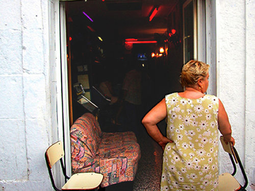 Imanart Barcelona fotografía decorativa Bar Alegria Raval 2003