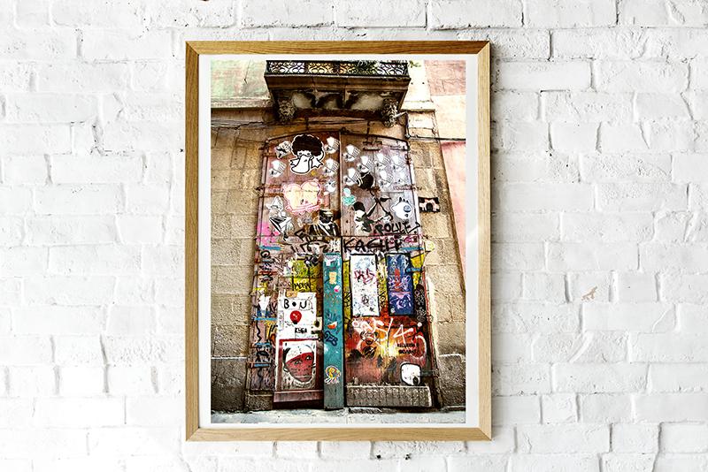 Imanart Barcelona Fotografía decorativa portón graffity
